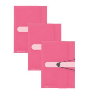 Kummiga kaaned A4 Color Block indoneesiaroosa, 3 tükki pakis 1/1