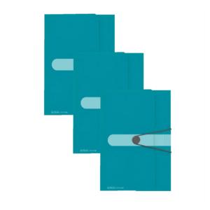 Kummiga kaaned A4 Color Block türkiis, 3 tükki pakis 1/1