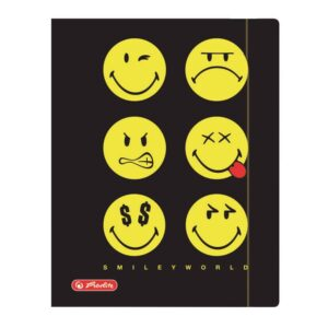 Kummiga kaaned A4 krt. Smiley black 1/1