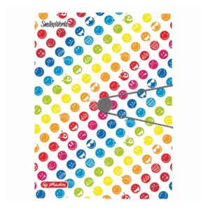 Kummiga kaaned A4 pl. Smiley Rainbow 1/1