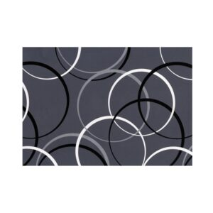 Pakkepaber 2m x 70 cm Circles Grey 1/1
