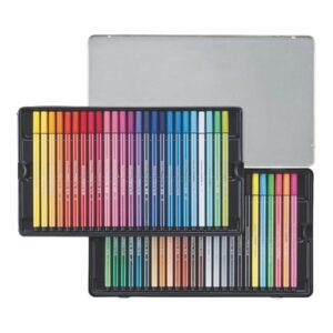 STABILO tindipliiats, Pen 68, 50 värvi, metallkarbis 1/1