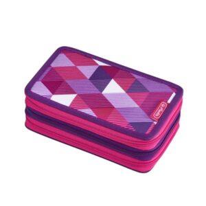 Herlitz pinal, täidetud, 31 osa, 3 lukuga - Pink Cube 1/1
